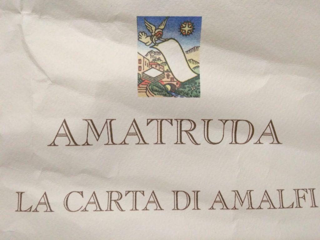 AMATURDA LA CARTA DI AMALFI